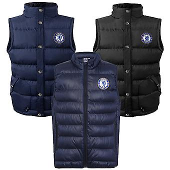 Chelsea FC Official Football Gift Boys wyściełane body warmer kurtka Gilet