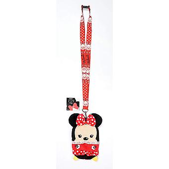 Lanyard - Disney - Minnie Mouse Red w/Pouch