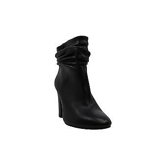 DKNY Womens sabel läder rund tå fotled mode stövlar