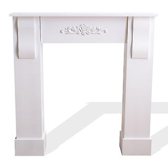 Rebecca Furniture Frame White Fireplace Floral Decoration Classic 92x93x22.5