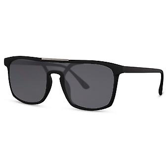 Sunglasses unisex rectangular cat. 3 black/smoke