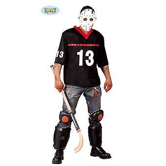 Morts-vivants hockeyeur costume d'Halloween pour tueur en horreur masculine Jason