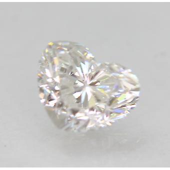 Certified 0.71 Carat D VVS2 Heart Enhanced Natural Loose Diamond 6x4.86mm 2EX