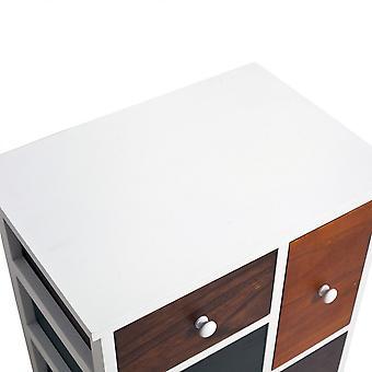 Rebecca Möbel Mobile Schublade Urban Retro 4 farbige Schubladen 52x47x33