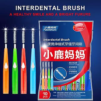 Adults Interdental Brush Clean Between Teeth Dental Floss Pick Push Pull Toothpick Cleaning Dental Brushes