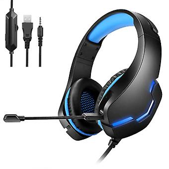 Yulass Stereo Gaming Headphones for Playstation 4 and 5 / Xbox / PC - Headset Headphones with Microphone Blue