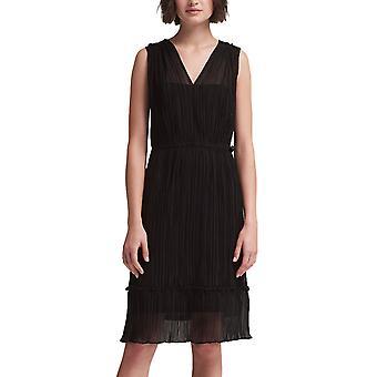 DKNY | Mouwloze geplooide wrap jurk