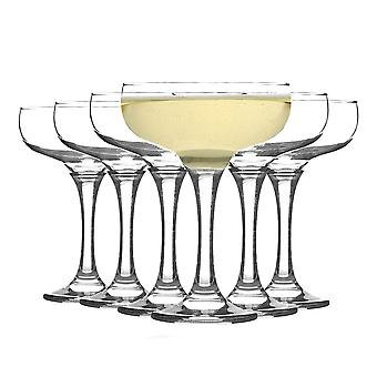 Rink Drink Vintage Glass Champagne Saucers - 200ml - Pack of 12