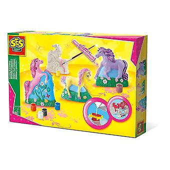 SES Creative Children's Horses Casting and Painting Set (1356)