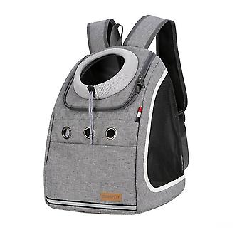 Double shoulder strong pet carrier backpack dog cat outdoor travel portable mesh head bag