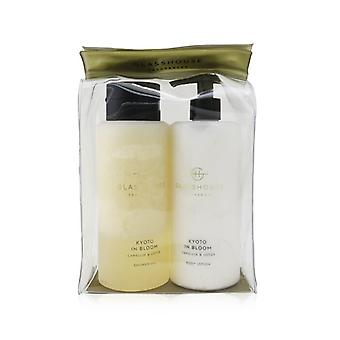 Glasshouse Kyoto In Bloom (Camellia & Lotus) Body Duo: Shower Gel  + Body Lotion 2x400ml/13.52