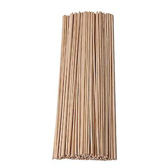 100PCS Round Birch Wood Craft Stick Wooden Dowel Rods 3x300mm for Toffee