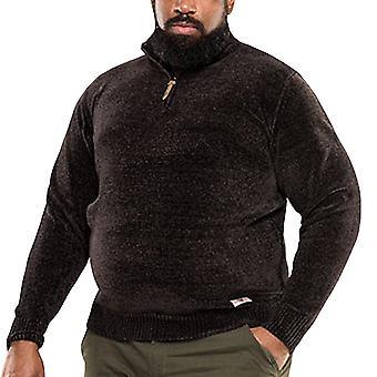 Duke D555 hombres gran rey alto tamaño Branson 1/4 Zip embudo cuello puente - negro