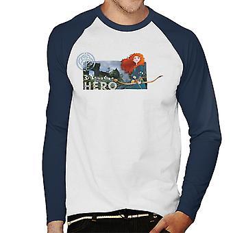 Pixar Brave Be Your Own Hero Men's Baseball Pitkähihainen T-paita