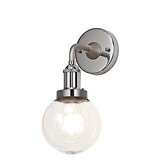 Felix Wall Lamp 1 Light E27 Ip65 Exterieur Satijn nikkel/gepolijst chroom