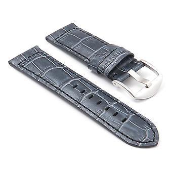 Strapsco dassari kartel tyk polstret krokodille præget læderrem