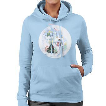 Pflege Bären Weihnachten Schnee Burg Frauen's Kapuzen Sweatshirt