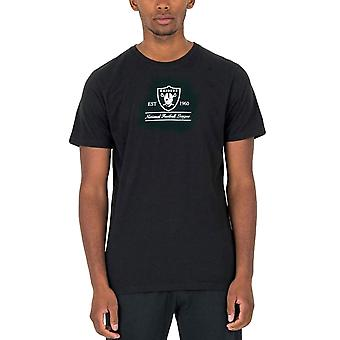 New Era Mens Oakland Raiders Perustettu NFL virallinen T-paita Tee Toppi - Musta