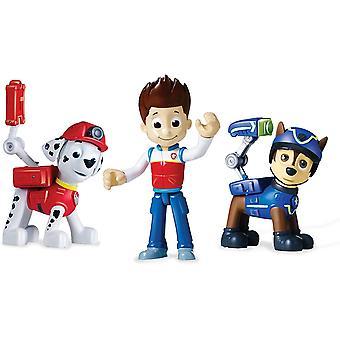 3-pack paw patrol toiminta pakkaus pennut asettaa Figurines Ryder, Marshall ja Chase