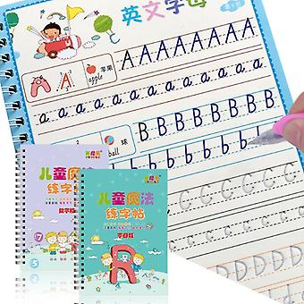 Reusable 3d Copybook For Calligraphy Number English Handwriting Books Learning