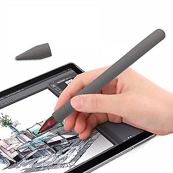 Pekepenn penn silika gel beskyttende etui for Microsoft Surface Pro 5 / 6 (grå)