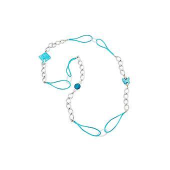 Halskette Silber grün 100cm