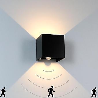 Human Body Motion Sensing Ip65 Waterproof Outdoor&indoor Wall Lamp Garden Light