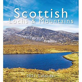 Otter House Scottish Lochs & Mountains Mini Easel Calendar 2021