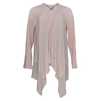 Joan Rivers Classics Collection Women's Sweater Jersey Knit Pink A263873