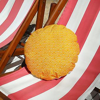 Sunny Wave Round Batik Decorative Round Pillow Cover 16""