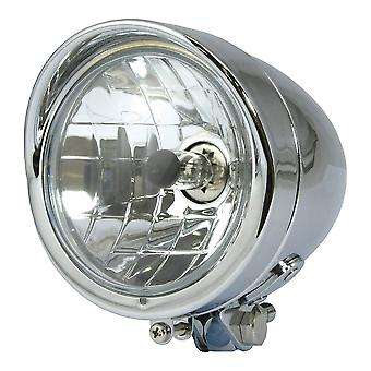 Bike It Bullet 4 12 Motorcycle Headlight Chrome H4 Halogeen-Lamp H4 12V 60 55W