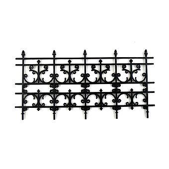 Dolls House Miniature Outdoor Fixture Accessory Black Victorian Railings Fence