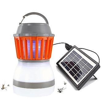 Solar Mosquito Killer Lamp, Outdoor Bug Zapper Trap Lantern Insect Killer Tent