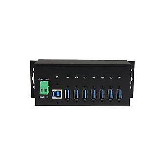 Startech 7 Port Industrial Usb 3 Hub 15Kv Esd And 350W Surge Protection