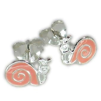 Orecchini in argento sterling rosa piccolo lumaca .925 X 1 paio di lumache