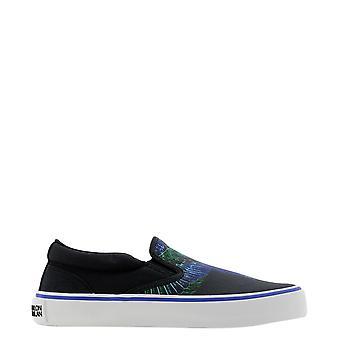 Marcelo Burlon Cmia079r21fab0011069 Men's Black Cotton Slip On Sneakers