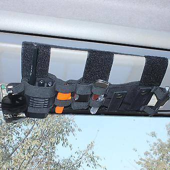 Taktisk Køretøj Visir Panel Tool Pouch Cd Opbevaring Bag Truck Bil Organizer Auto