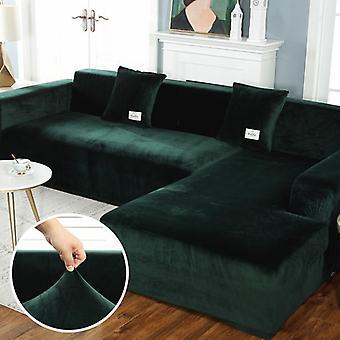 plysj sofa elastisk skinn hjørne sectional for stue sofa dekker sett
