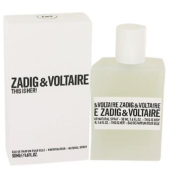 This is her eau de parfum spray by zadig & voltaire 535495 50 ml