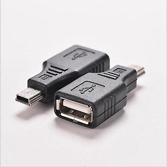 Mini Usb Male To Usb Female Converter Connector Transfer Data Sync Otg Adapter