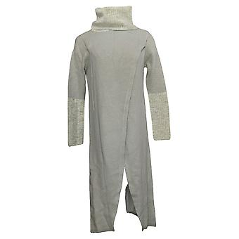 G By Giuliana Women's Sweater Petite Crossover Maxi Gray 718-480