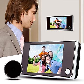 3.5 Inch Lcd Digital Doorbell - 120 Degree Electronic Peephole Camera Viewer