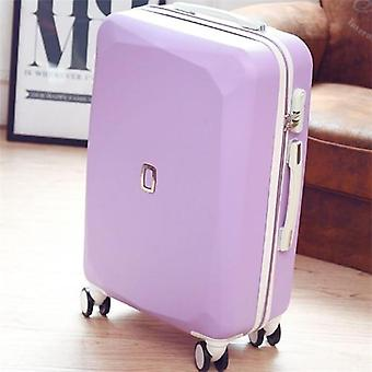 Women Travel Suitcase With Cosmetic Bag, Rolling Luggage Set With Handbag,