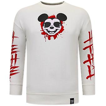 Gangster Mouse Sweater - White