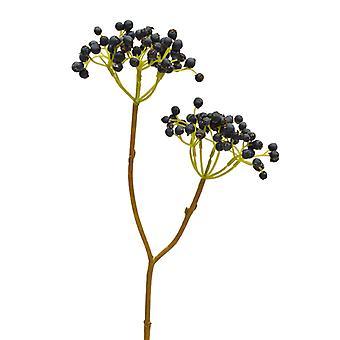 Artificial Berry Branche Deluxe 50 cm blauw