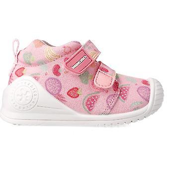 Biomecanics Girls 212210-A Canvas Shoes Pink Print