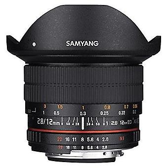 Samyang 12mm f2.8 ultra wide fisheye lens for canon eos ef dslr cameras - ful...
