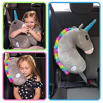 Cute Cartoon Car Safety Seat Belt Cover Child Unicorn Pillow