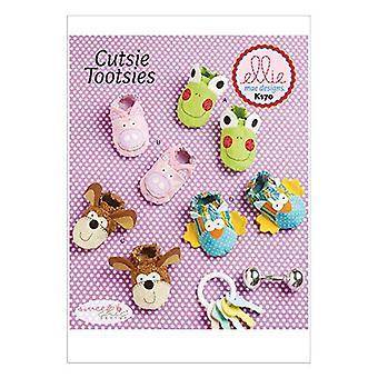 Kwik Sew Ellie Mae Sewing Pattern K170 0170 K632 Baby Infant Booties Size S-XL