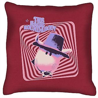 The Magic Roundabout Ermintrude Psychedelic Lines Cushion